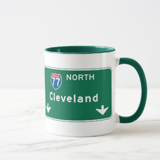 Cleveland, OH Road Sign Mug