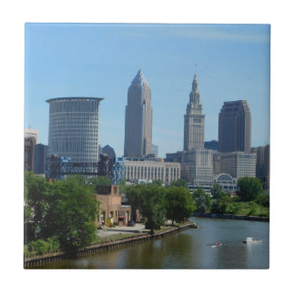 Cleveland, OH Rolling on the River Ceramic Tile