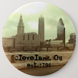 """Cleveland, OH - set.1796"" BIG Button"