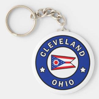 Cleveland Ohio Basic Round Button Key Ring