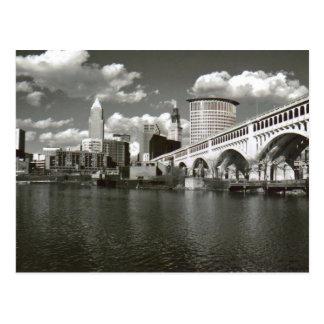 Cleveland Ohio Black and White Postcard