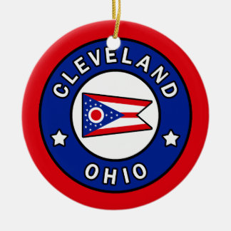 Cleveland Ohio Ceramic Ornament