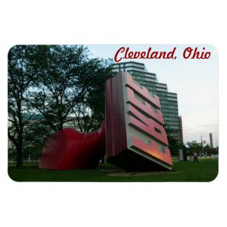 """Cleveland, Ohio """"Free"""" Landmark Rectangular Photo Magnet"""
