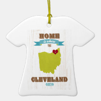 Cleveland, Ohio  Map – Home Is Where The Heart Is Ornaments