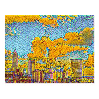 Cleveland Ohio Mosaic Postcard