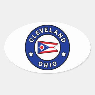 Cleveland Ohio Oval Sticker