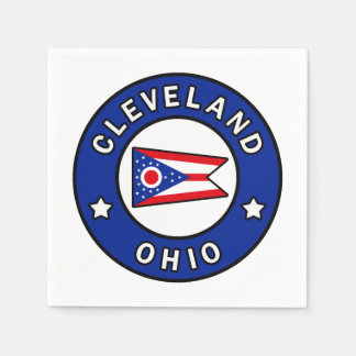 Cleveland Ohio Paper Napkin