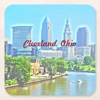 Cleveland, Ohio Photo Art Coaster