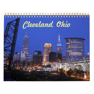 Cleveland Ohio Skyline Calendar