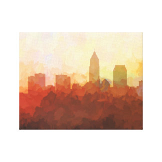 CLEVELAND, OHIO SKYLINE In the Clouds Canvas