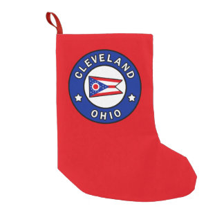 Cleveland Ohio Small Christmas Stocking