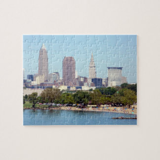 Cleveland, Ohio Summer Skyline Puzzle