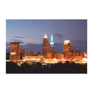 Cleveland, Ohio Terminal Tower Blue Canvas Print