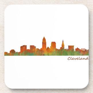 Cleveland Ohio the USA Skyline City v01 Beverage Coaster