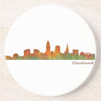 Cleveland Ohio the USA Skyline City v01 Beverage Coasters