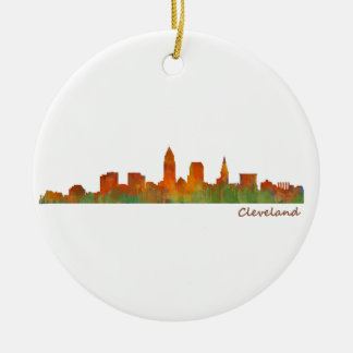 Cleveland Ohio the USA Skyline City v01 Ceramic Ornament