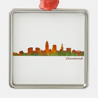 Cleveland Ohio the USA Skyline City v01 Metal Ornament