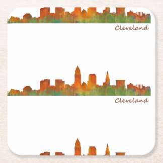 Cleveland Ohio the USA Skyline City v01 Square Paper Coaster