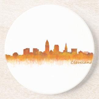 Cleveland Ohio the USA Skyline City v02 Beverage Coasters