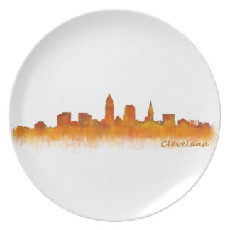 Cleveland Ohio the USA Skyline City v02 Plate