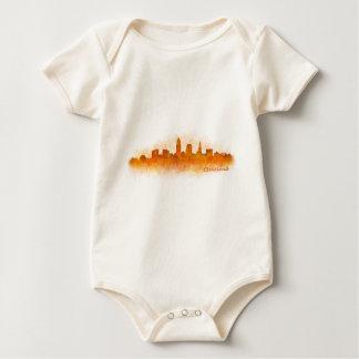 Cleveland Ohio the USA Skyline City v03 Baby Bodysuit
