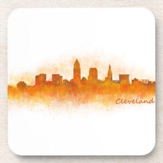Cleveland Ohio the USA Skyline City v03 Beverage Coasters