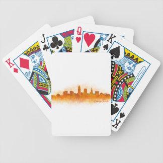 Cleveland Ohio the USA Skyline City v03 Bicycle Playing Cards