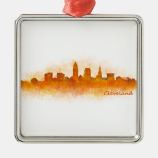 Cleveland Ohio the USA Skyline City v03 Metal Ornament