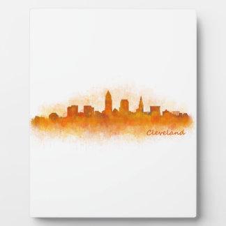 Cleveland Ohio the USA Skyline City v03 Plaque