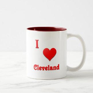 Cleveland -- Red Two-Tone Coffee Mug