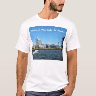 "Cleveland River Skyline ""Livin the Dream"" T- Shirt"