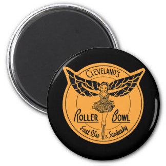 Cleveland Roller Bowl 6 Cm Round Magnet