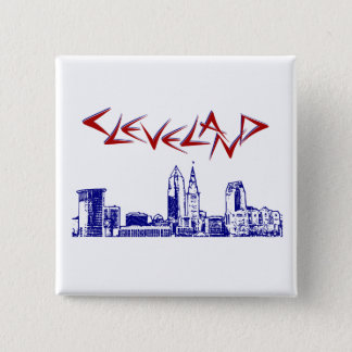 Cleveland Skyline 15 Cm Square Badge