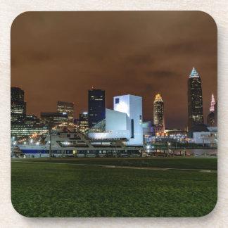 Cleveland Skyline at Night Coasters