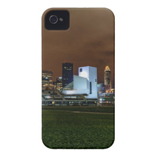 Cleveland Skyline at Night iPhone 4 Cases
