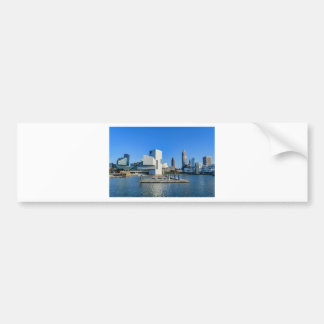 Cleveland Skyline Bumper Sticker