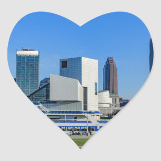 Cleveland Skyline Heart Sticker