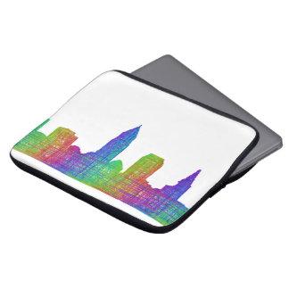 Cleveland skyline laptop sleeve