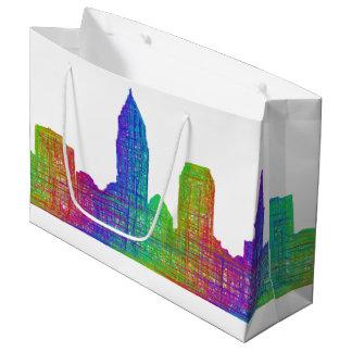 Cleveland skyline large gift bag