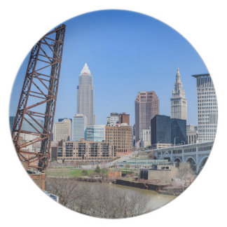 Cleveland Skyline Party Plates