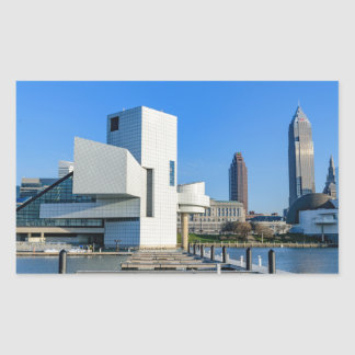 Cleveland Skyline Rectangular Sticker
