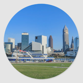 Cleveland Skyline Round Sticker