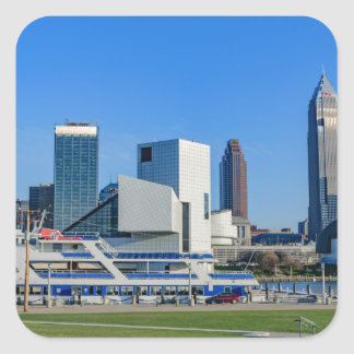 Cleveland Skyline Square Sticker
