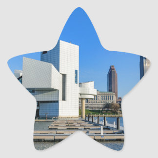 Cleveland Skyline Star Sticker