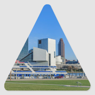 Cleveland Skyline Triangle Sticker