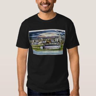 Cleveland Stadium Skyline at Dusk, Cleveland, Ohio T Shirt