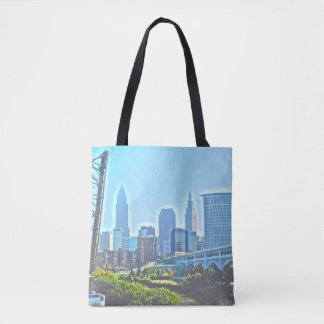 Cleveland West River Blues Tote Bag