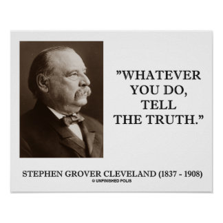 Cleveland Whatever You Do, Tell The Truth Poster