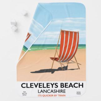 Cleveleys Beach Lancashire seaside poster Baby Blanket
