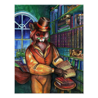 Clever Fox by Portia St. Luke Poster